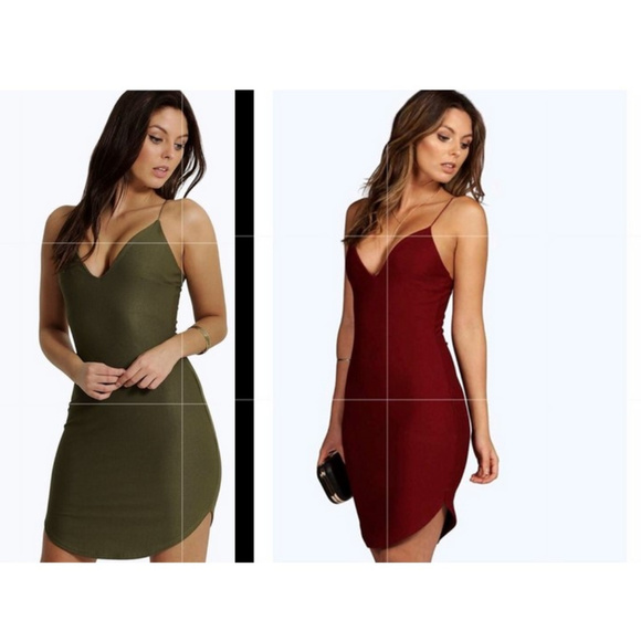 dc49ad82665d Boohoo Dresses & Skirts - Boohoo Curved Hem Strappy Bodycon Dresses *2 FOR 1
